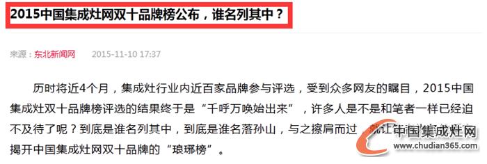 【新民网】2015集成灶十大品牌榜单,新民网热情报道!