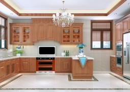板川集成灶厨房整体装修效果图,橱柜安装修效果图