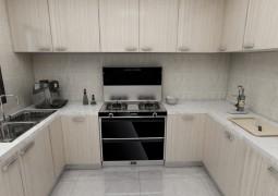 北斗星A3系列集成灶整体厨房装修效果图