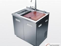 金帝集成水槽S800T-不锈钢门板-集成水槽