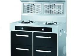 金帝电器供应集成灶X1050B贵族黑两气