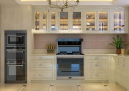 金利集成灶与橱柜完美结合,金利整体厨房装修效果图 (8)