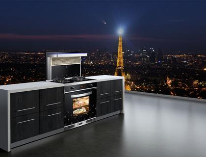 欧琳巴黎之夜集成灶:都市轻奢生活,悦享烹饪乐趣