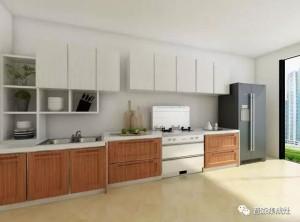 普森集成灶整体装修效果图,厨房看起来美观大方