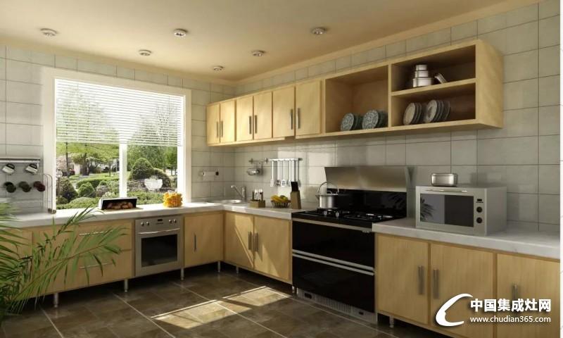 森歌集成灶无油烟的开放式厨房效果图