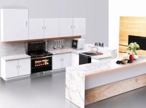 亿田集成灶开放式厨房装修效果图,现代风橱柜效果图