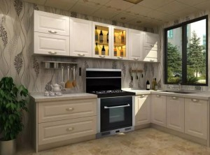 现代风格橱柜装修配集成灶,让你生活更有乐趣