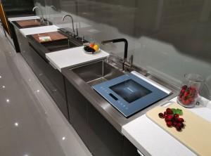 雅士林集成灶之现代风格洗碗机效果图