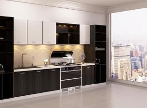 蓝炬星集成灶5种风格整体厨房装修效果图