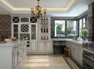 至厨美式田园风格的整体橱柜装修效果图