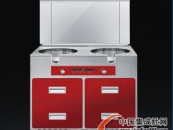 美盼MPJ-A100集成环保灶 (气+气)(不锈钢台面)