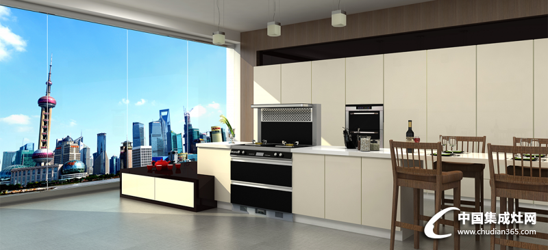 德西曼各款式集成灶整体厨房装修效果图