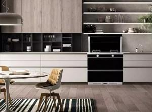 浙派集成灶厨房现代风格装修效果图,保持厨房的洁净