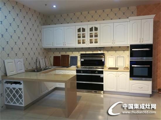 潮邦集成灶整体厨房实景装修图
