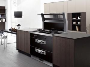 帅丰集成灶最新整体厨房装修效果图,现代风厨房装修图