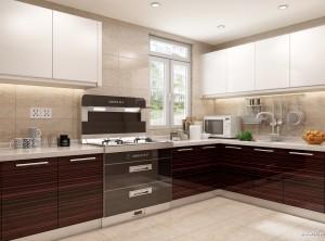 帅丰整体厨房简约风格装修效果图,帅丰集成灶装修图