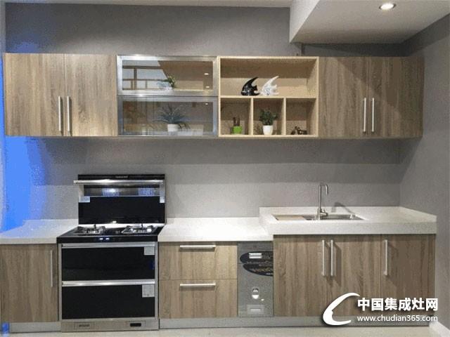 潮邦集成灶现代风厨房,整体色彩搭配美观适配当