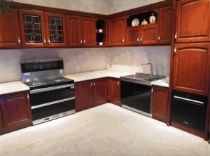 潮邦集成灶中式厨房,开放式厨房装修图