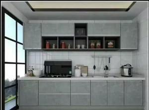 圣鸽分享几款整体厨房与分体式集成灶装修实景图