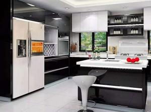 智巨集成灶厨房安装效果图