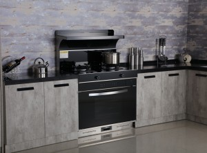 莫森集成灶客户厨房安装实景图