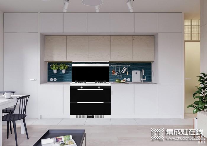 浙派集成灶整体厨房最新装修效果图