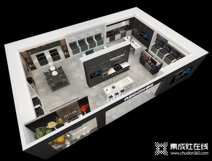 睿达集成灶150平专卖店SI效果图