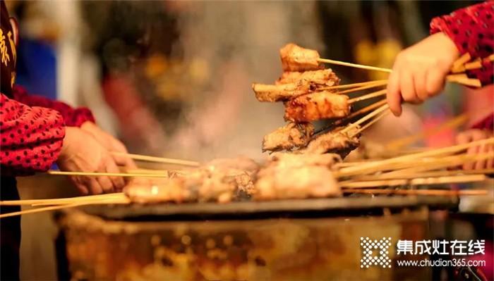 有了莆田集成灶,在家也能吃上美味的烤串!