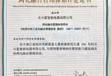 北斗星智能电器荣获两化融合管理体系评定证书 (1008播放)