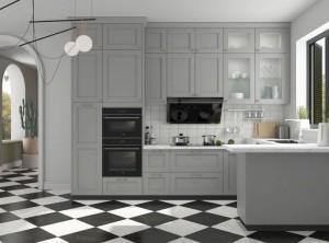 金牌厨柜美式乡村风系列图片,美式风格装修效果图