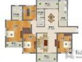 我乐整体厨柜:140平精装房,轻奢风全屋定制模板