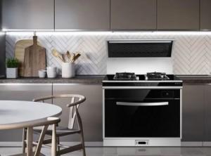 火星一号蒸箱款集成灶V06产品厨房装修效果图