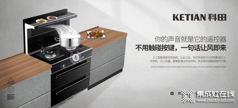 科田集成灶厨房最新效果图